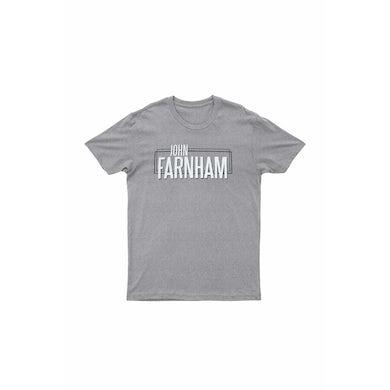 John Farnham Wording Grey Tshirt 2018/2019 Tour