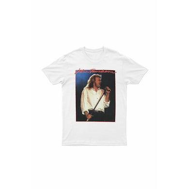 John Farnham Vintage Rock White Tshirt Aus/NZ 2018/2019