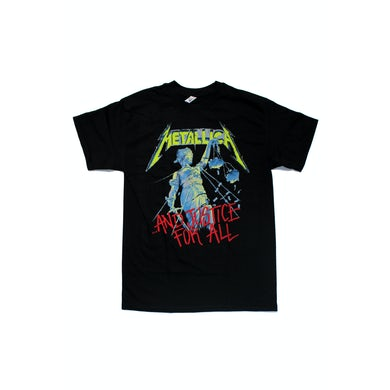 Metallica Justice For All Black Tshirt