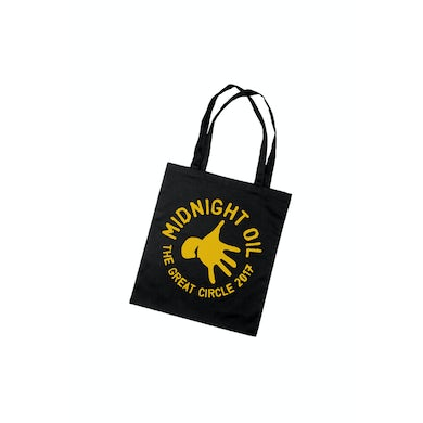 Midnight Oil Tote Bag Black The Great Circle 2017 Tour