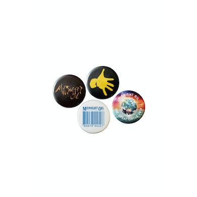Midnight Oil Badge Set (4) Great Circle Tour 2017