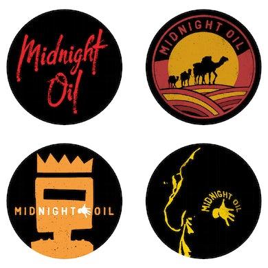 Midnight Oil Badge Set Set of 4