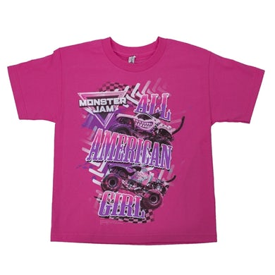 Monster Jam All American Girl Youth Tee