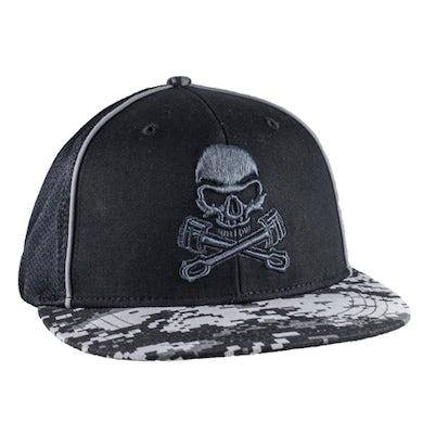 Monster Jam Grave Digger Skull/Pistons Cap