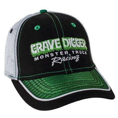 Monster Jam Grave Digger Green Mesh Bill Cap