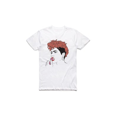 Montaigne Line Portrait White Tshirt