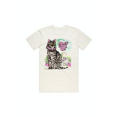 Montaigne Cat Natural Tshirt W/DATEBACK