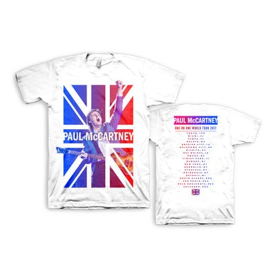 Paul McCartney Cheers White Dateback Tshirt One On One World Tour 2017