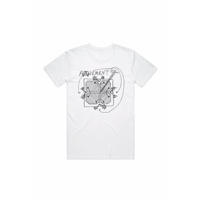 Pavement Stage Plot White Tshirt