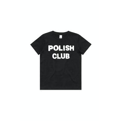 POLISH CLUB Classic Puffy Logo Black Kids Tshirt