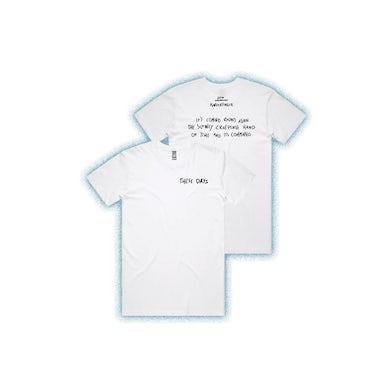 These Days Lyric White Mens Tshirt