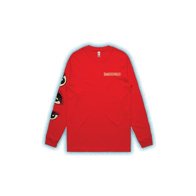 Powderfinger Eyes Red Long Sleeve Tshirt