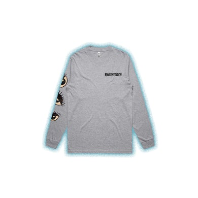 Powderfinger Eyes Grey Marle Long Sleeve Tshirt