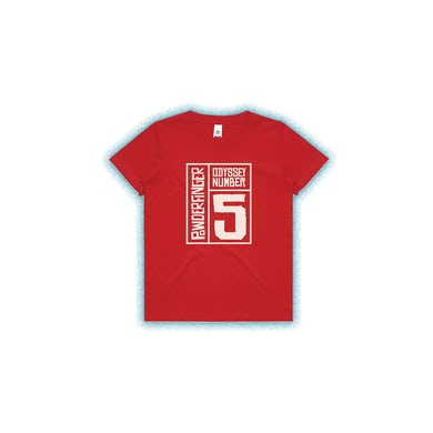 Powderfinger New Odyssey Number Five Kids Red Tee