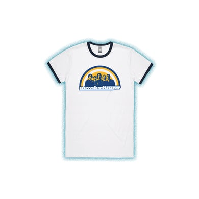 Powderfinger New Suburban Fables White Ringer Tshirt