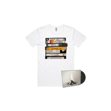 Unreleased 1998-2010 CD/ VHS White Tshirt