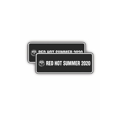 Red Hot Summer Tour 2 x Number Plate 2020 RHS (Set of 2)