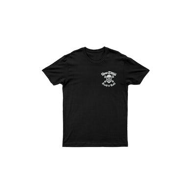 Rose Tattoo Pocket Skull Rocker/Snakes on Back Black Tshirt