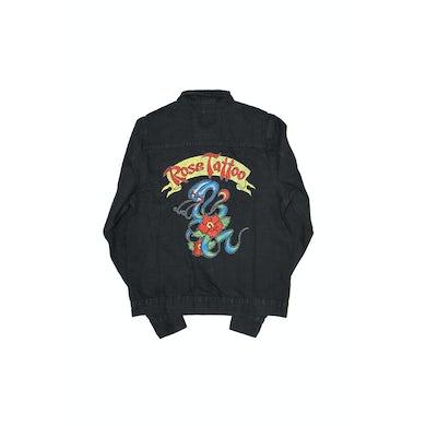 Rose Tattoo Rock N Roll Outlaw Black Denim Jacket (Limited Edition)