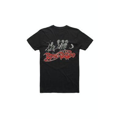 Rose Tattoo Rock N Roll Outlaw 40th Anniversary Band Photo Black Tshirt