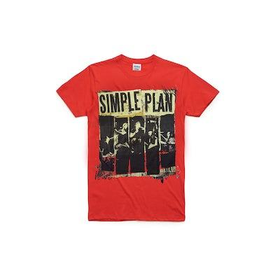 Simple Plan Red Australian Tour 2012 Tshirt