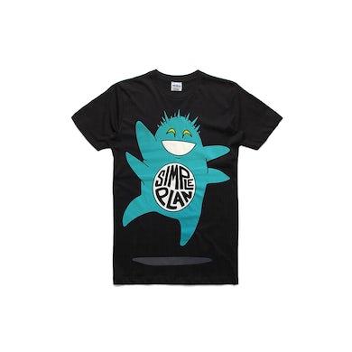 Simple Plan Green Monster Black Tshirt