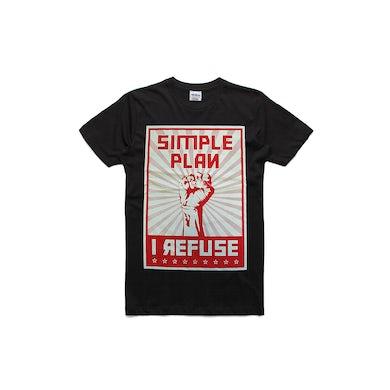 Simple Plan Refuse Black Tshirt