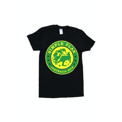 Simple Plan Kangaroo Black Tshirt Australian Tour 2018