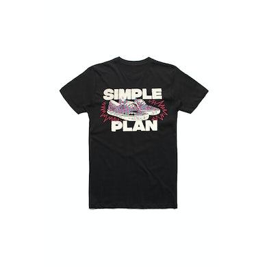 Simple Plan Shoes Black Tshirt