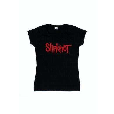 Slipknot Logo Black Ladies Tshirt