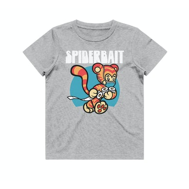 COVID Tiger Kids Grey Marle Tshirt