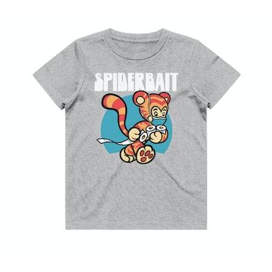 Spiderbait COVID Tiger Kids Grey Marle Tshirt