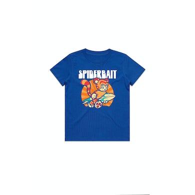 Spiderbait Summer Tiger Youth Royal Blue Tshirt