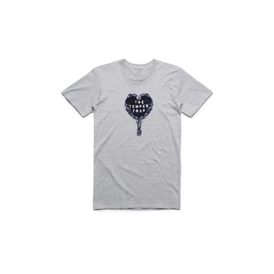 Temper Trap Grey Heart Logo