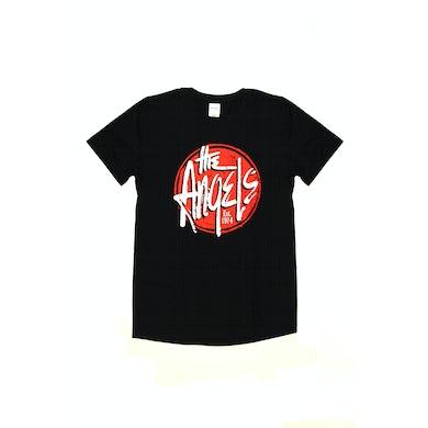 The Angels Red Logo Black Tshirt