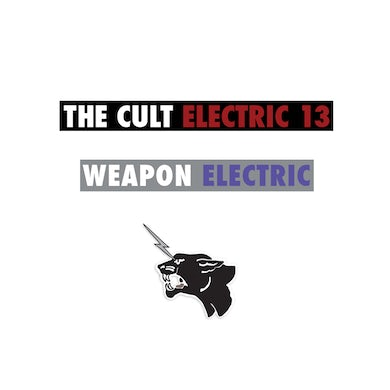 The Cult Electric 13 Sticker Set