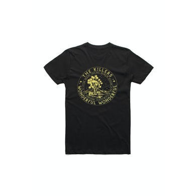 The Killers Circle Tour Black Tshirt w/dateback