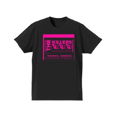 The Killers Wonderful Lyric Black Tshirt