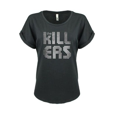 The Killers Distressed Shirt Logo Black Girls Tshirt