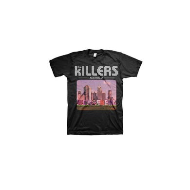 The Killers Australia Design Black Tshirt