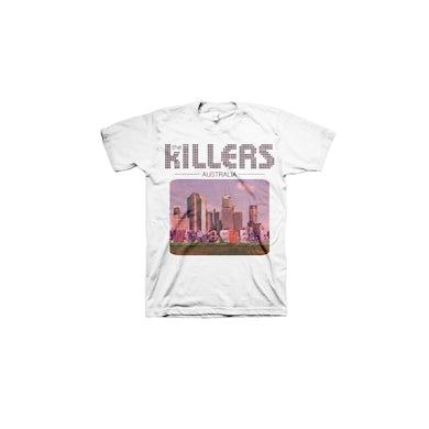 The Killers Australia Design White Tshirt