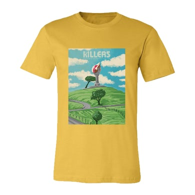 The Killers One Tree Hill Yellow Shirt (NZ Exclusive)