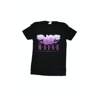 The Maine Purple Flowers Black Tshirt 2018 Tour