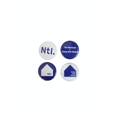 The National Badge Set of 4