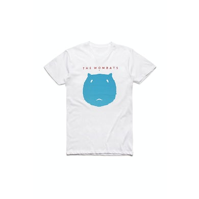 The Wombats Blue Face White T Shirt