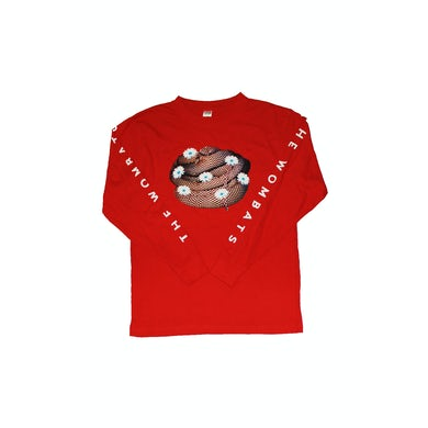 The Wombats Red Long Sleeve Tshirt