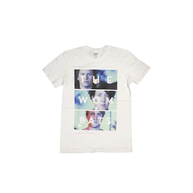 The Wombats Photo Stack White Tshirt