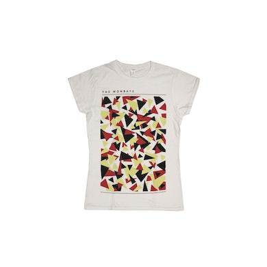 The Wombats Triangles Ladies White Tshirt