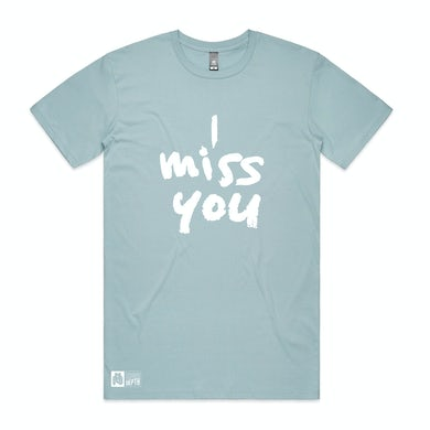 Thundamentals I Miss You pale blue tee