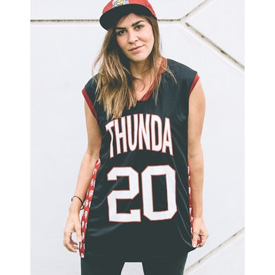 Thundamentals B-Ball Jersey (Maroon/Black)